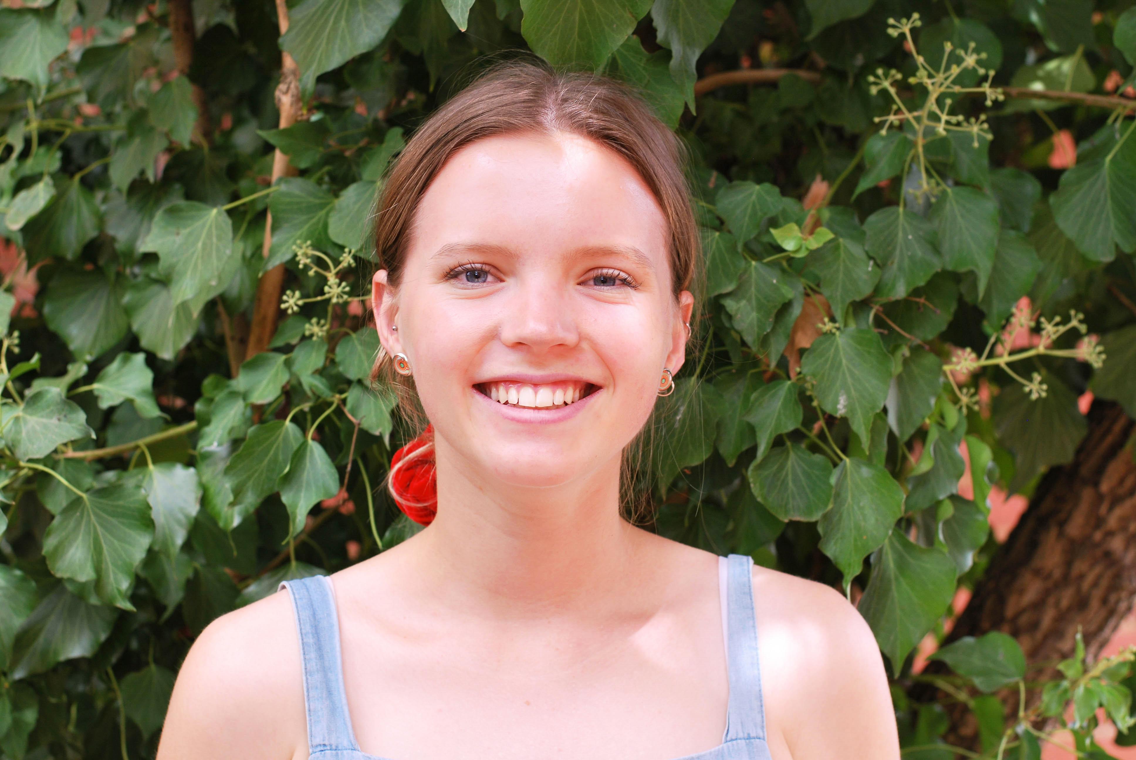Julia Clugston smiles at the camera.