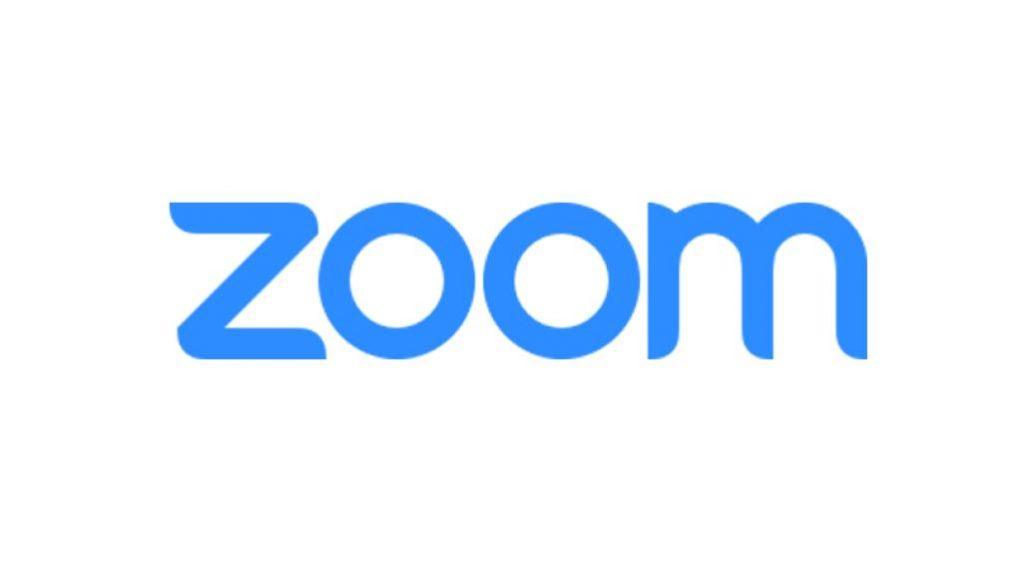 Graphic logo of Zoom.