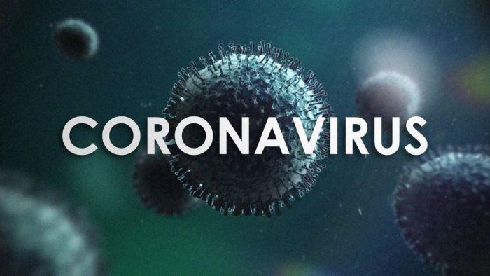 """Coronavirus graphic with text: """"coronavirus."""""""