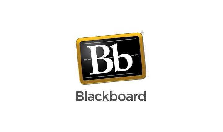 Graphic logo of Blackboard.