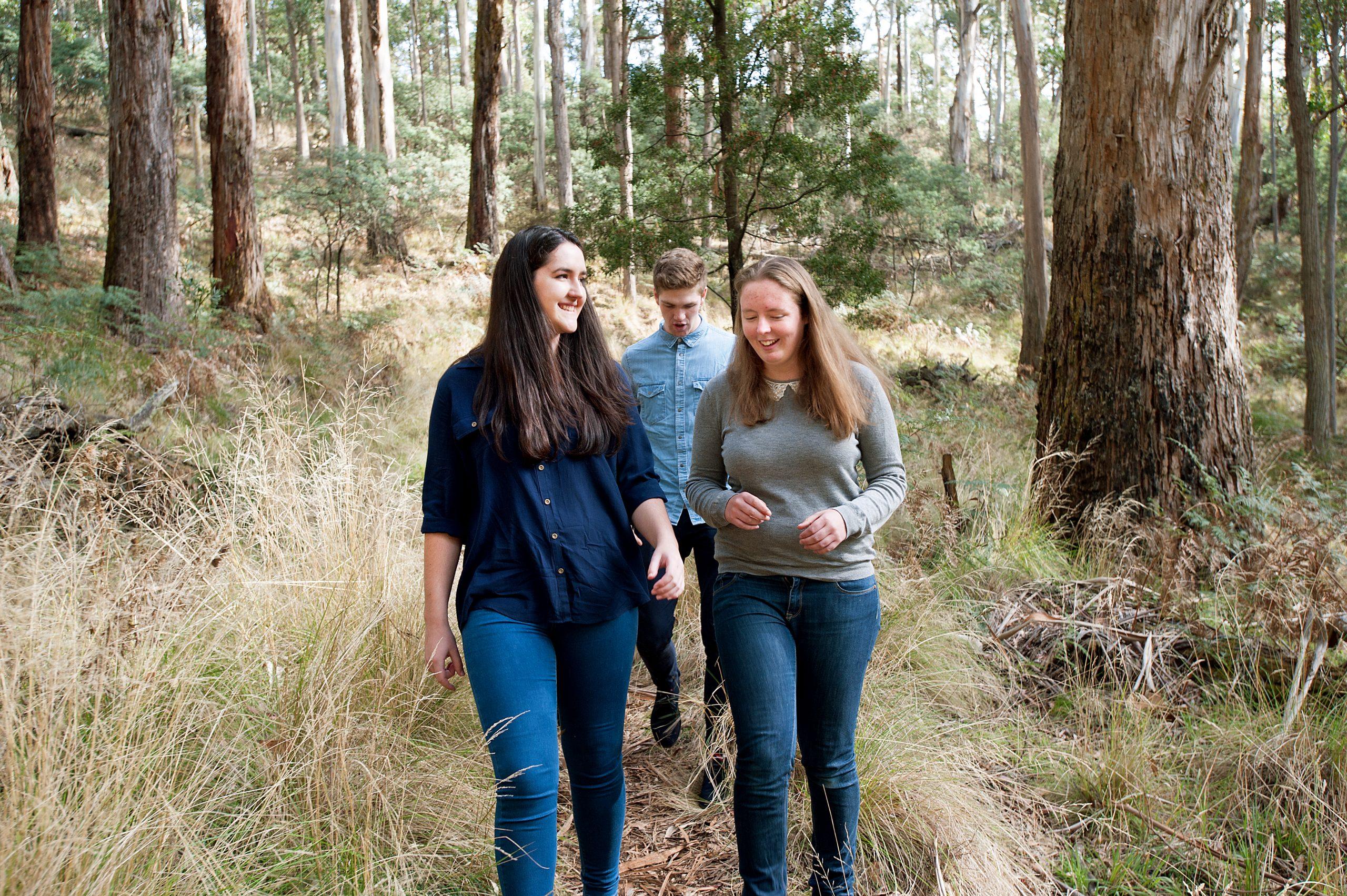 Kate Maddern and friends bush walking